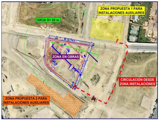 Propuestas zona de instalaciones Biblioteca Segovia