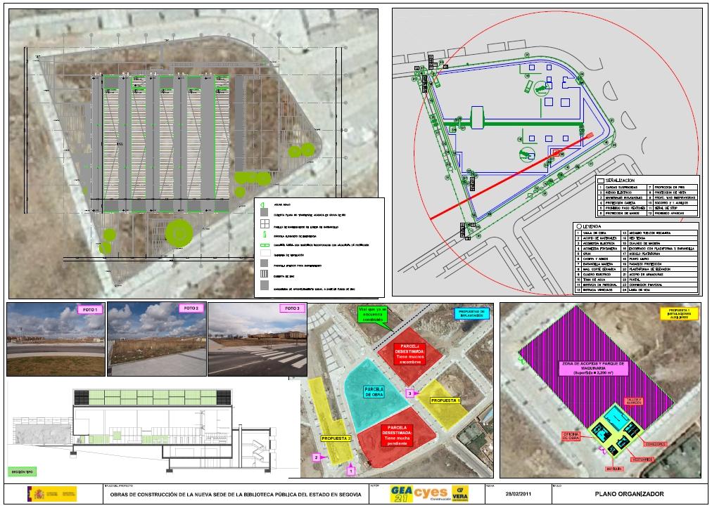 Plano Organizador Biblioteca Segovia