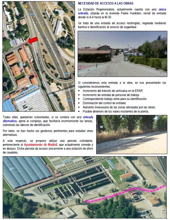 Accesos Viveros de la Villa (Madrid)
