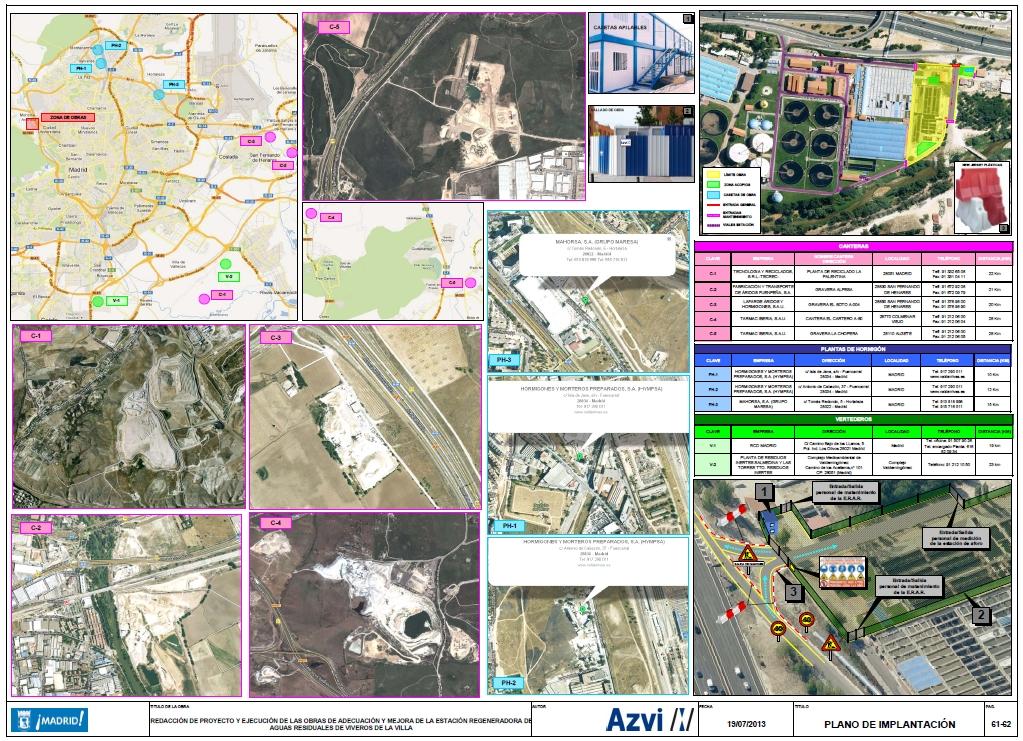 Plano de Implantación Viveros de la Villa (Madrid)