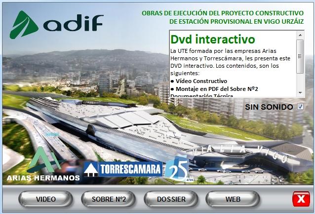 Imagen CD interactivo Portada Estación Vigo Urzáiz