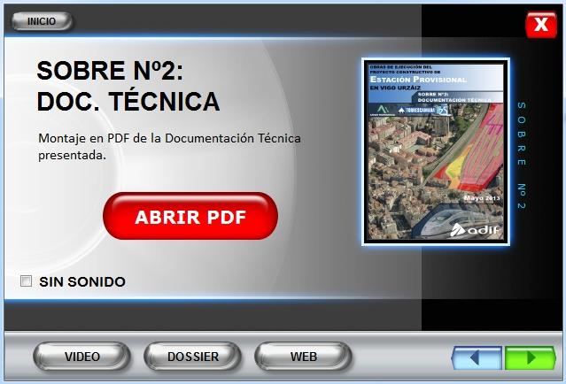 Imagen CD interactivo Sobre Nº2 Estación Vigo Urzáiz